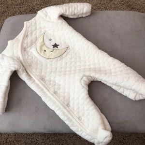 Quilted soft 0-3 month onesie